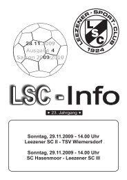 LSC-Info 2009-2010 Ausgabe 4 - Leezener SC