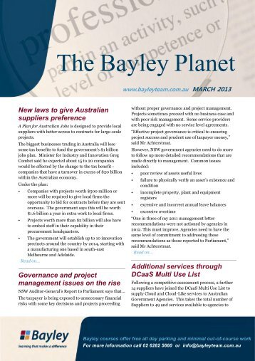 The Bayley Planet - March 2013