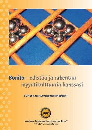 Bonito – edistää ja rakentaa myyntikulttuuria kanssasi