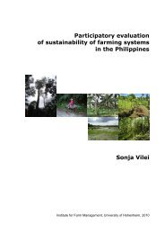 Participatory evaluation of sustainability of farming systems in the ...