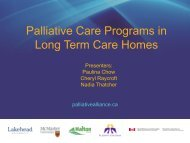 Palliative Care Programs in Long Term Care Homes - Quality ...