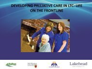 developing palliative care in ltc: life on the frontline - Quality ...