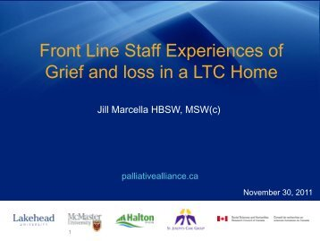 Staff Grief and Loss Powerpoint Presentation - Quality Palliative ...