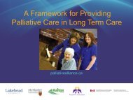 A Framework for Palliative Care in Long Term Care Homes - Quality ...