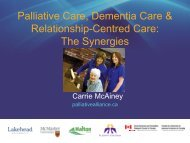 Palliative Care, Dementia Care, and Resident-Centred-Care
