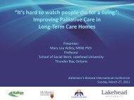 It's hard to watch people die for a living - Quality Palliative Care in ...