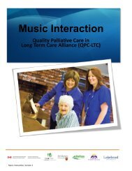 Music Interaction Toolkit - Quality Palliative Care in Long Term Care