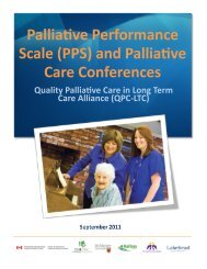 Palliative Performance Scale (PPS) and Palliative Care Conferences