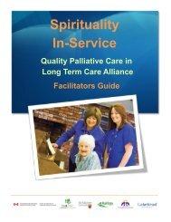 Spirituality In-service Facilitators Guide - Quality Palliative Care in ...