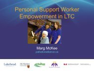 Personal Support Worker Empowerment Presentation