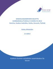 Sosiaaliasiamiehen selvitys kunnanhallituksille vuodelta 2012