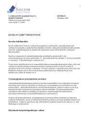 Kyselyn 2/2007 yhteenveto - Socom
