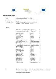 ohjausryhmä pöytäkirja 3.2012 - Kauhava