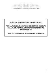 capitolato speciale d'appalto - Azienda pubblica di servizi alla ...