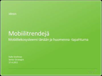 Mobiilitrendejä - Forum Virium Helsinki