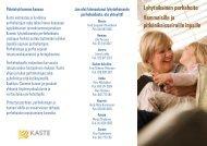 Lyhytaikaisen perhehoidon esite vammaiset lapset - Socom