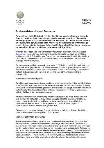 Seminaarissa - Forum Virium Helsinki