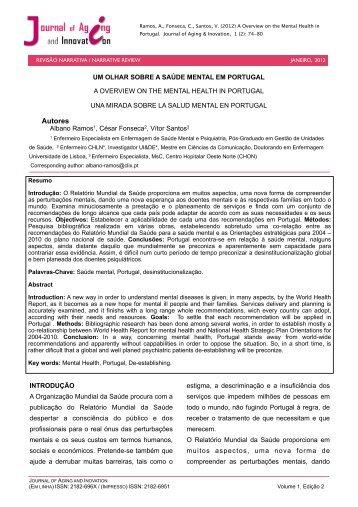 um olhar sobre a saúde mental em portugal - AAGI-ID Associação ...