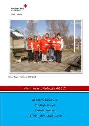 Nilsiän osaston tiedote 4/2012 - RedNet - Punainen Risti