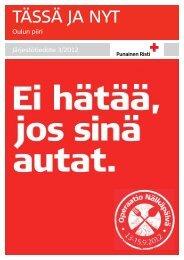 Tässä ja Nyt 3-2012 - RedNet - Punainen Risti