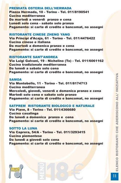 Menù d'Argento - Città di Torino