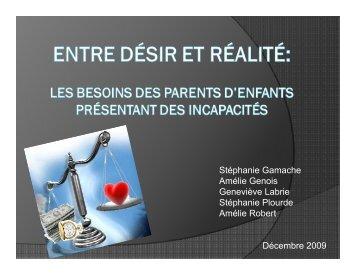 Surcharge parentale et ressources