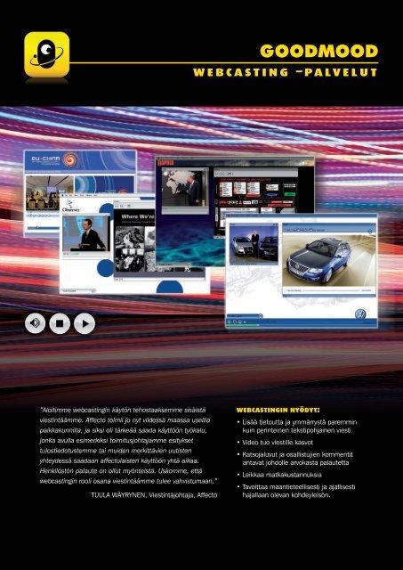 webcasting –palvelut - GoodMood