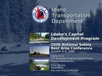 Idaho's Capital Investment Program