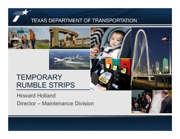 Texas-Temporary Rumble Strips