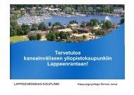 Tervetuloa kansainväliseen yliopistokaupunkiin ... - Asuntomessut