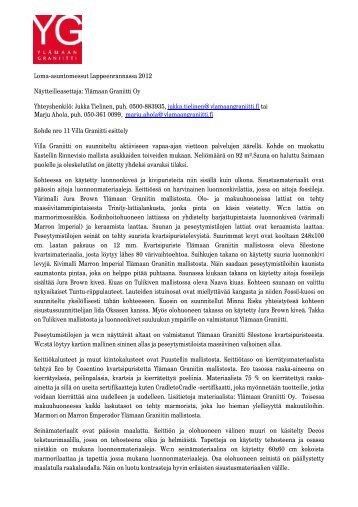 Villa Graniitti esittely2 - Asuntomessut