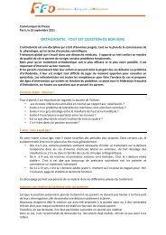 Orthodontie : tout est question de bon sens - Fédération Française d ...