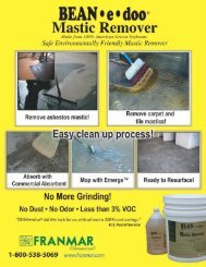 Bean-e-Doo Mastic Remover Tech Sheet - Quest Building Products