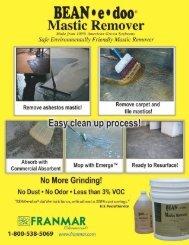 Bean-e-Doo Mastic Remover Tech Sheet - Quest Building Products
