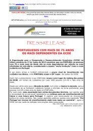 PRESS RELEASE - AAGI-ID Associação Amigos da Grande Idade
