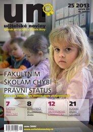 FAKULTNÍM ŠKOLÁM CHYBÍ PRÁVNÍ STATUS - Učitelské noviny
