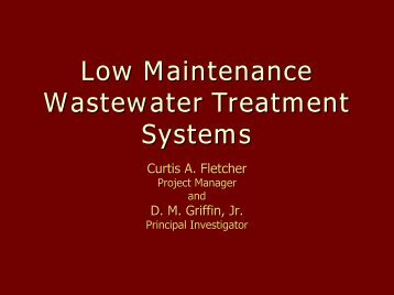 Low Maintenance Wastewater Treatment using Rock Filter and ...