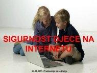 sigurnost djece na internetu - Ekonomska i turistička škola Daruvar