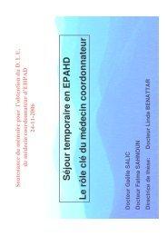 Presentation BONNOTTE SALIC Gaelle - SAHNOUN ... - EHPAD