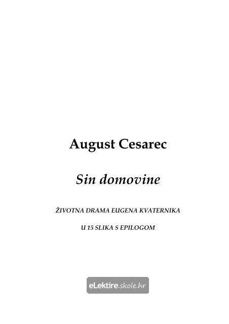 Sin Domovine August Cesarec