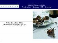 Motto des Jahres 2003: Macher sein statt Opfer spielen - GWS Netzwerk