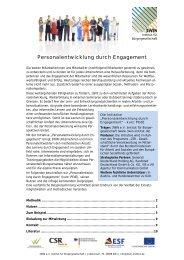 Personalentwicklung durch Engagement - GWS Netzwerk