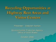 Greening Opportunities for Highway Rest Areas