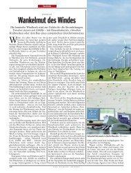 Wankelmut des Windes - Super-Grid for renewable energies
