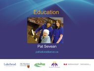 Education - Quality Palliative Care in Long Term Care