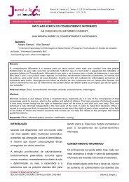 um olhar acerca do consentimento informado - AAGI-ID Associação ...