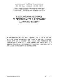 Regolamento di Disciplina del Personale. - Azienda pubblica di ...