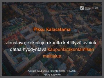 Pekka Koponen - Forum Virium Helsinki
