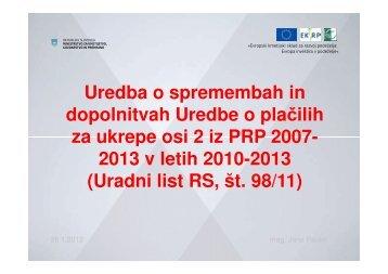 Uredba o plačilih za ukrepe osi 2 PRP 2007-2013 - Agencija RS za ...