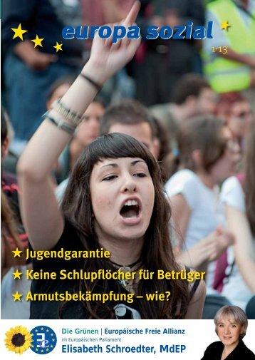 europa sozial - Schroedter, Elisabeth